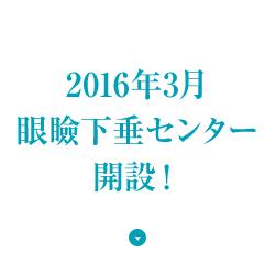 2016年3月眼瞼下垂センター開設!