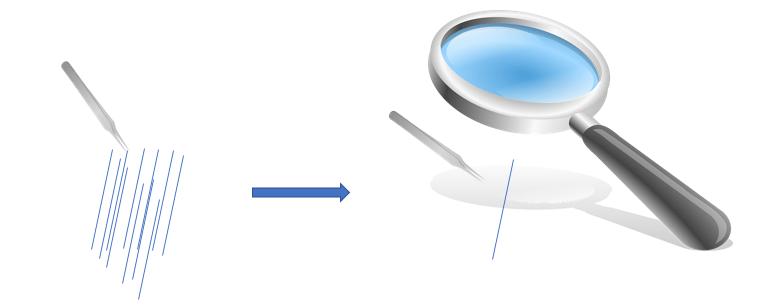 虫眼鏡の法則説明文